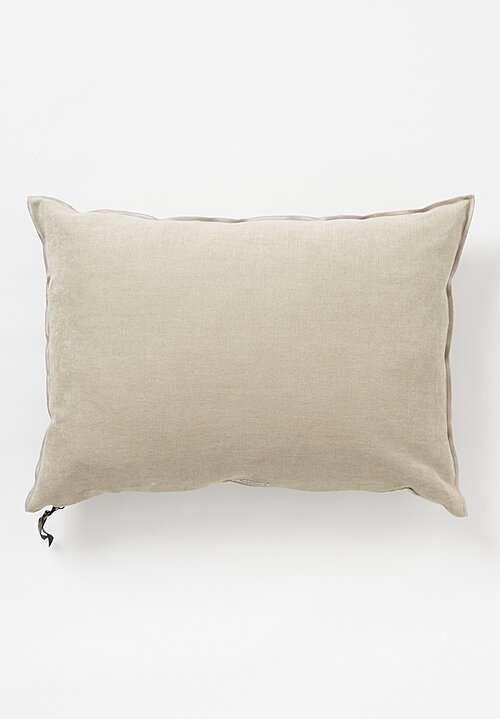 Maison de Vacances Soft Washed Chenille Pillow in Ciment