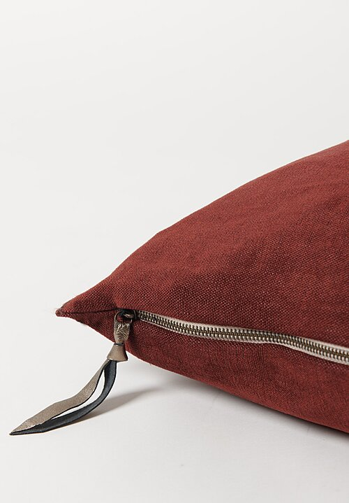 Maison de Vacances Soft Washed Chenille Pillow in Chianti
