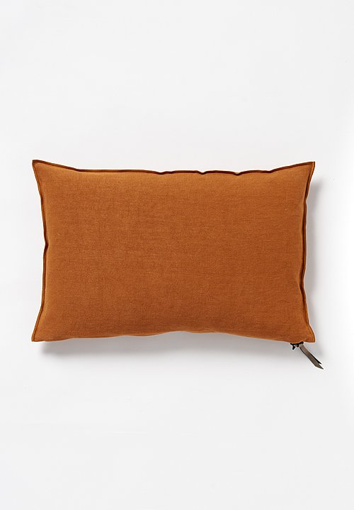 Maison de Vacances Stone Washed Linen Pillow in Ambre