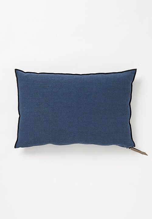 Maison du Vacances Small, Stone Washed Linen Pillow in Bleu Nuit