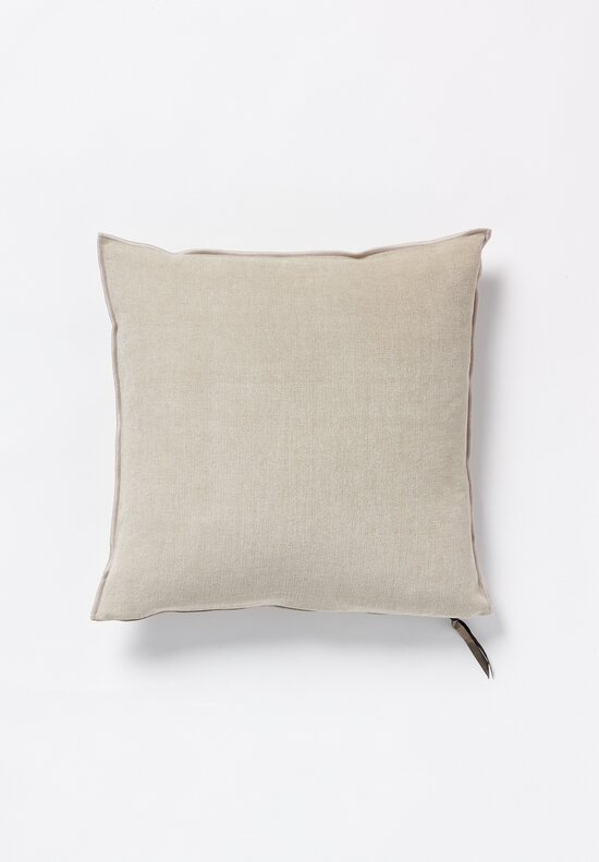 Maison du Vacances Square, Stone Washed Linen Pillow in Naturel