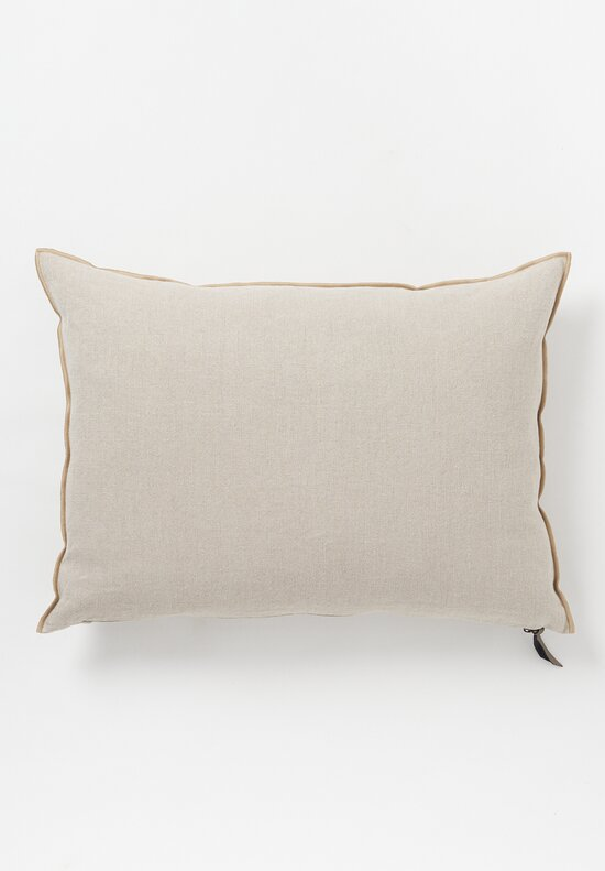 Maison de Vacances Large Stone Washed Linen Pillow in Naturel