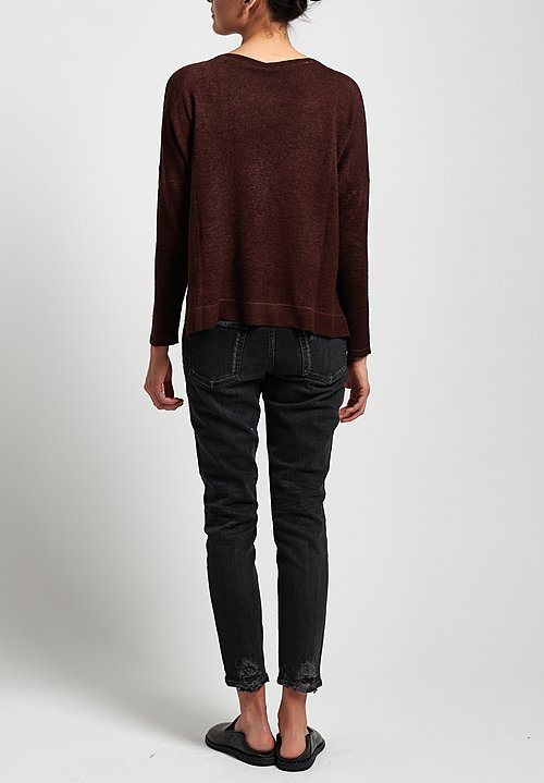 Avant Toi Lightweight Oversized Cashmere Sweater in Chocolate