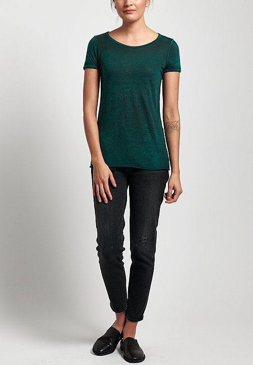 Avant Toi Cotton Jersey Tee in Pine