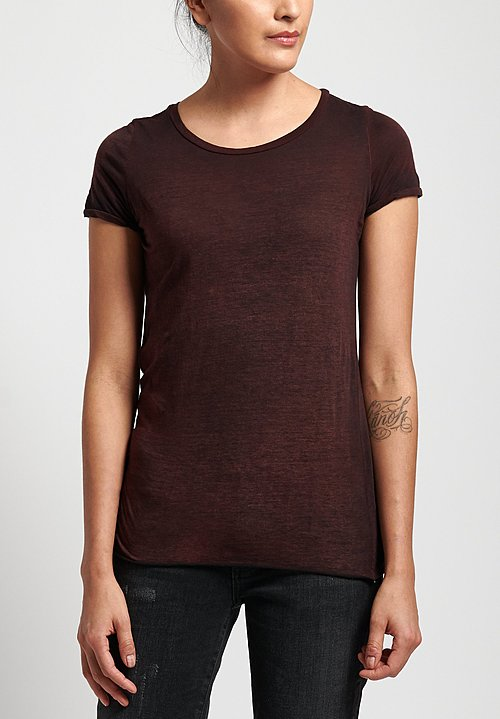 Avant Toi Cotton Jersey Tee in Nero/ Terre