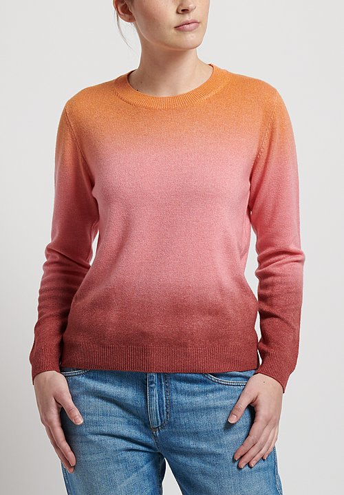 Etro Wool/ Cashmere Crew Neck Sweater in Pink