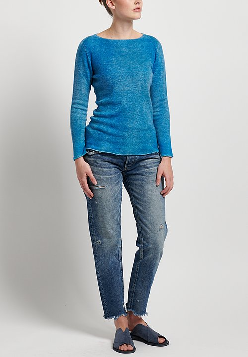 f Cashmere Two Tone Sweater in Blue
