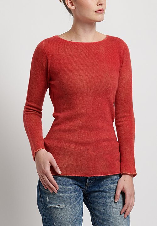 f Cashmere Two Tone Sweater in Red