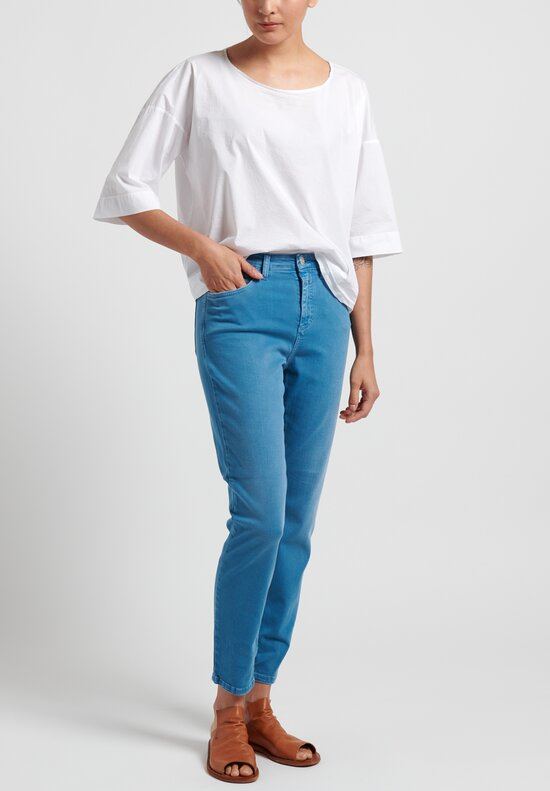 Closed Baker High Garment Dyed Jeans in Sky Blue