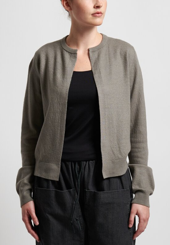 Frenckenberger Cashmere Mini Cardigan in Mole