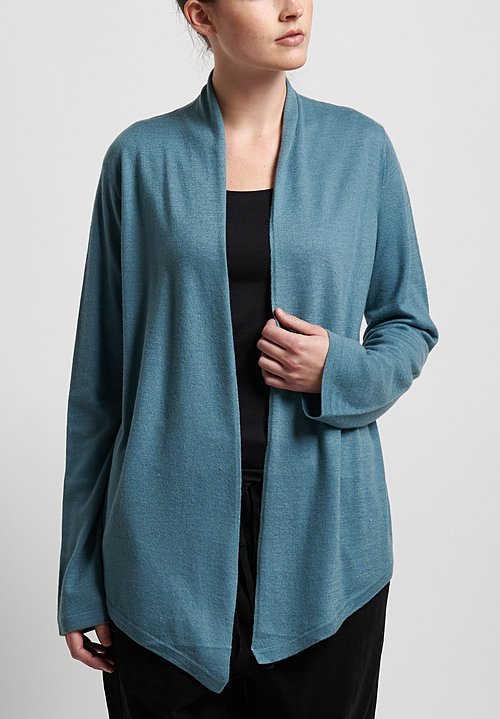 Frenckenberger Cashmere Simple Cardigan in Arctic