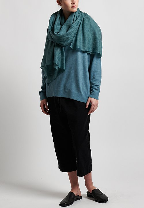 Frenckenberger Cashmere Scarf in Arctic