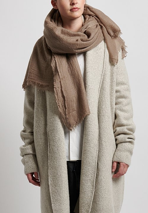 Frenckenberger Cashmere Scarf in Mole