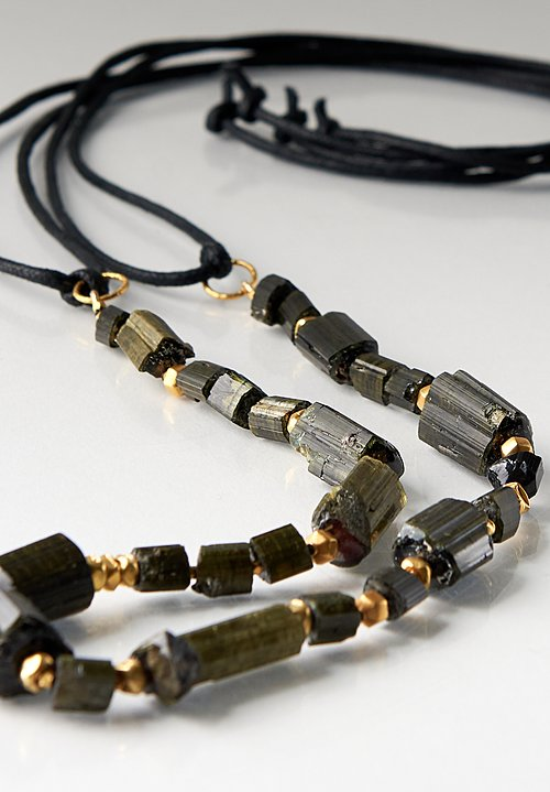 Karen Melfi 18k, Tourmaline & Cord Necklace