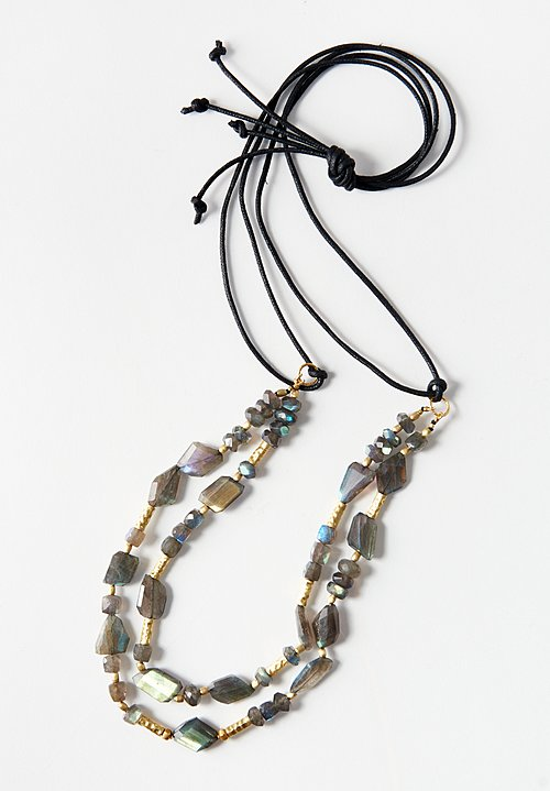 Karen Melfi 18k Gold, Labradorite Necklace
