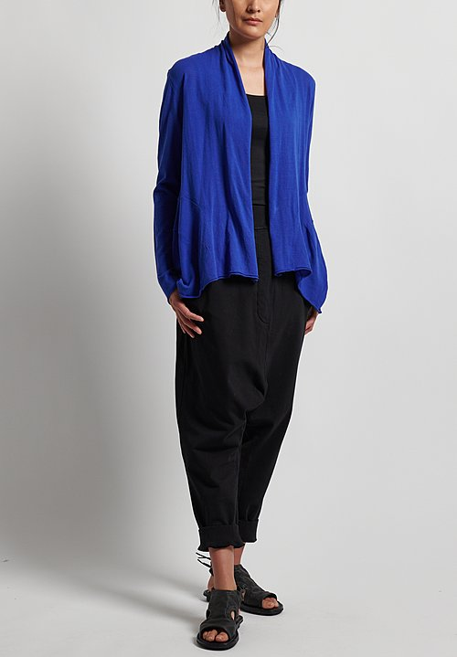 Rundholz Black Label Open Front Cardigan in Curacao