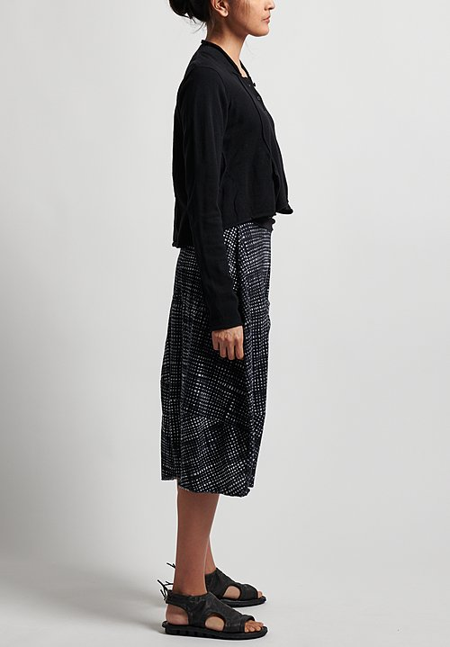 Rundholz Black Label Short Cardigan in Black