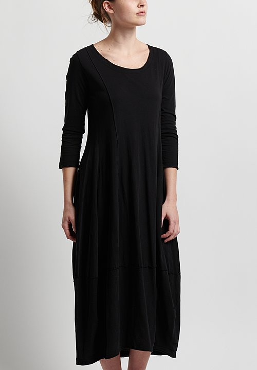 Rundholz Black Label Scoop Neck Dress in Black