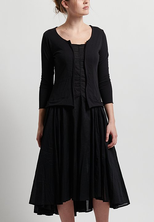 Rundholz Black Label Pleated Skirt Dress in Black