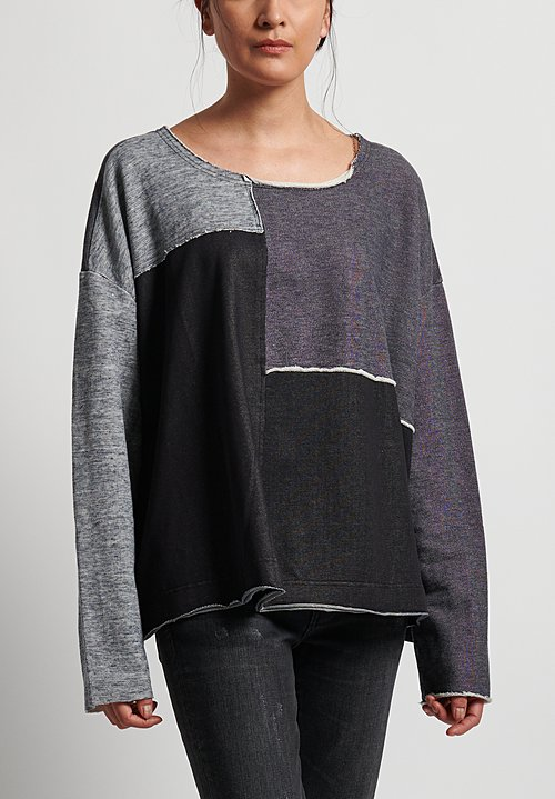 Rundholz Black Label Patchwork Sweatshirt in Original