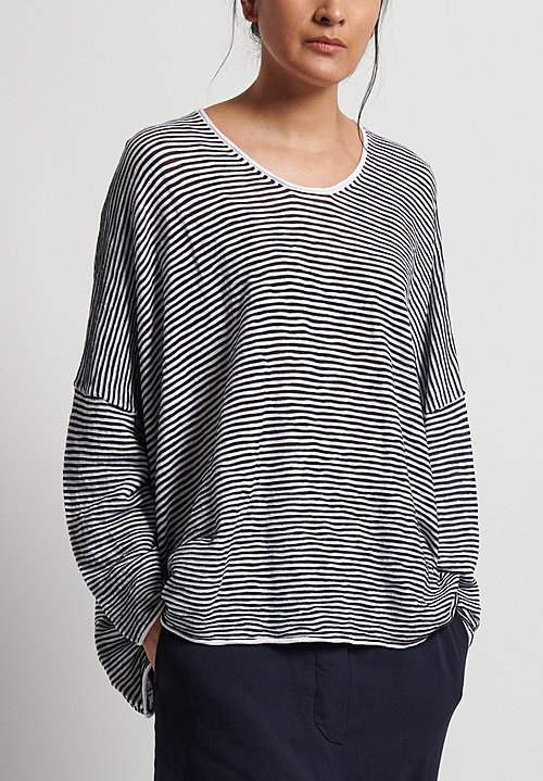 Rundholz Black Label Oversize Striped Top in Martinique