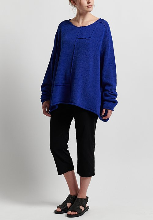 Rundholz Black Label Reversed Seam Sweater in Curacao