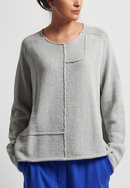 Rundholz Black Label Cotton Blend Reversed Seam Sweater in Cliff