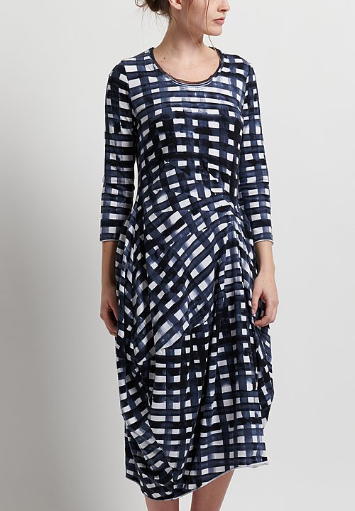 Rundholz Black Label Darted Tulip Dress in Martinique Print