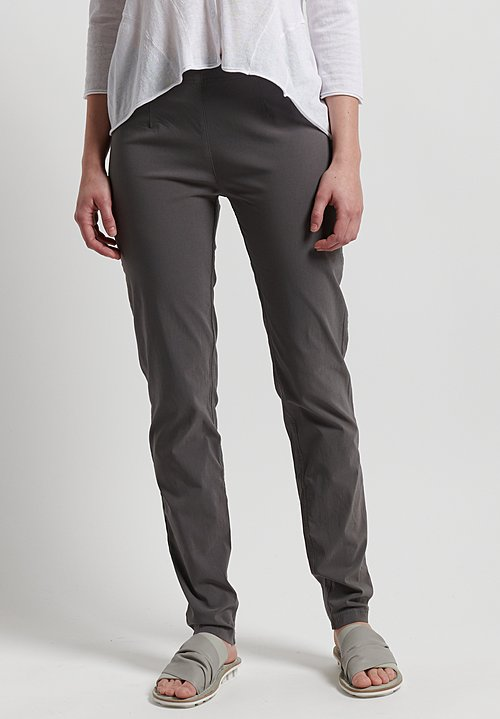 Rundholz Black Label Stretch Fitted Pants in Rock