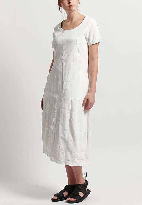 Rundholz Cotton Short Sleeve Printed Fitted Dress in Rice Print