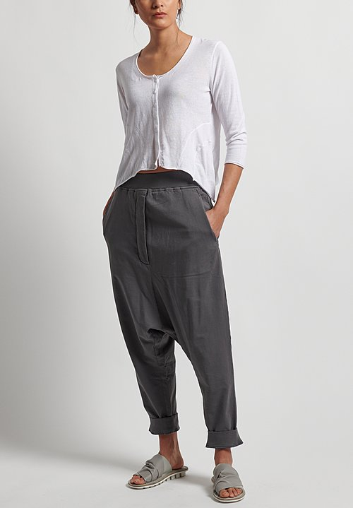 Rundholz Black Label Pull-On Drop Crotch Pants in Rock