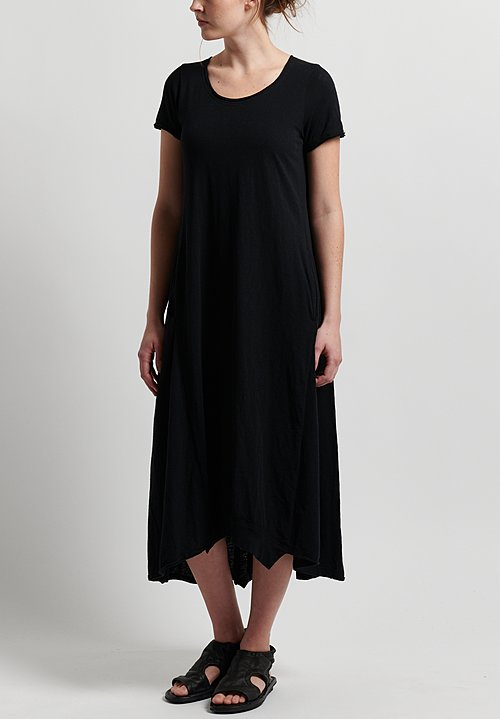 Rundholz Black Label Jersey A-Line Dress in Black