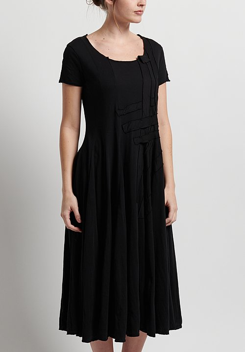 Rundholz Black Label Patched Fit & Flare Dress in Black