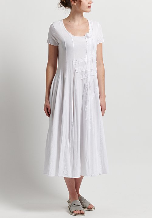 Rundholz Black Label Patched Fit & Flare Dress in White