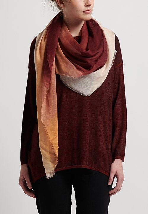 Faliero Sarti Archetto Scarf in Orange/Maroon
