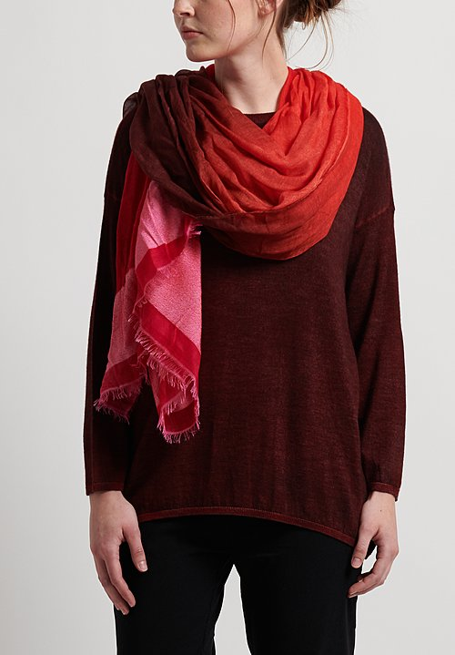 Faliero Sarti Ada Scarf in Red/Pink