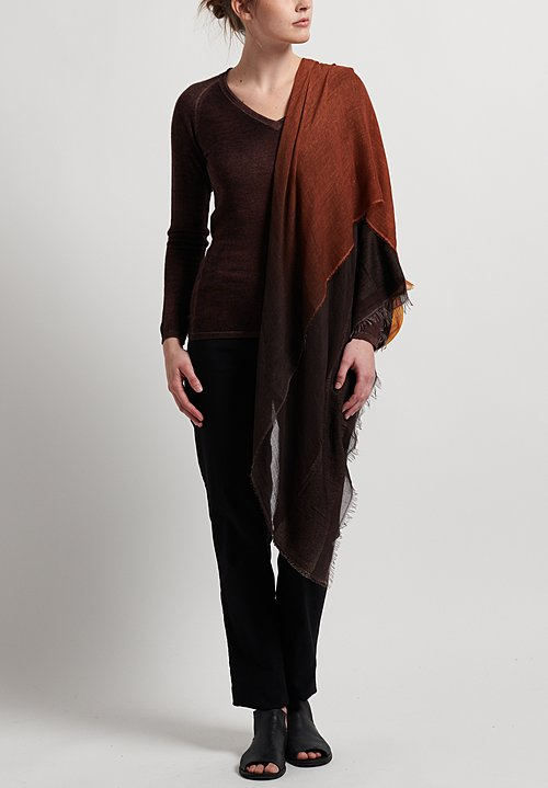 Faliero Sarti Modal Ada Scarf in Brown