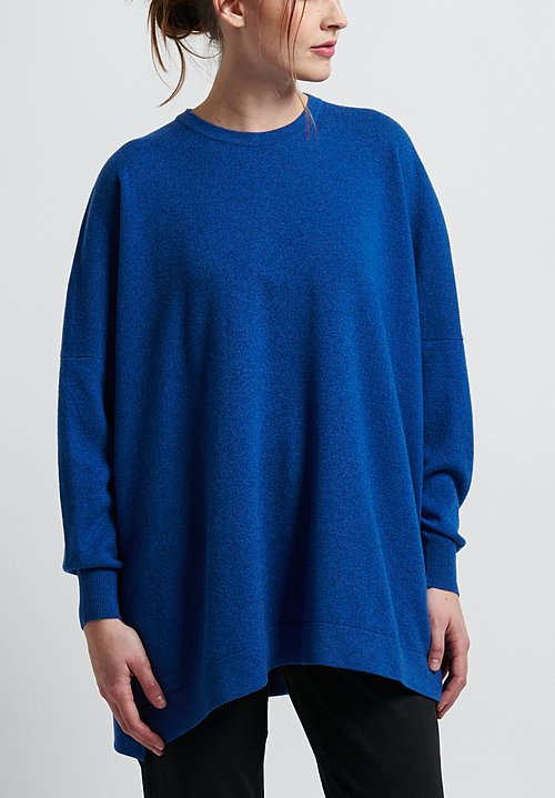 Hania New York Cashmere Marley Crewneck in Klein