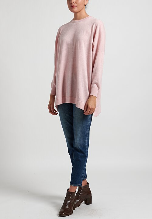 Hania New York Cashmere Marley Crewneck in Nymph