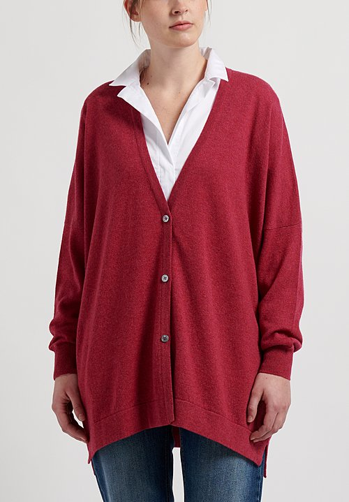 Hania New York Cashmere Oversized V-Neck Cardigan in Kapoor