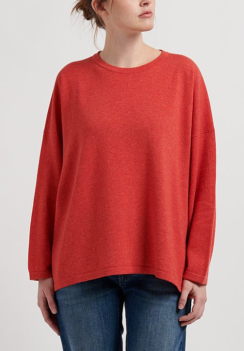 Hania New York Cashmere Sasha Short Crewneck in Spark