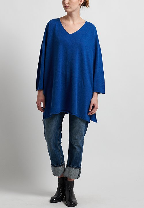 Hania New York Cashmere Sylvie V-Neck Sweater in Olympian