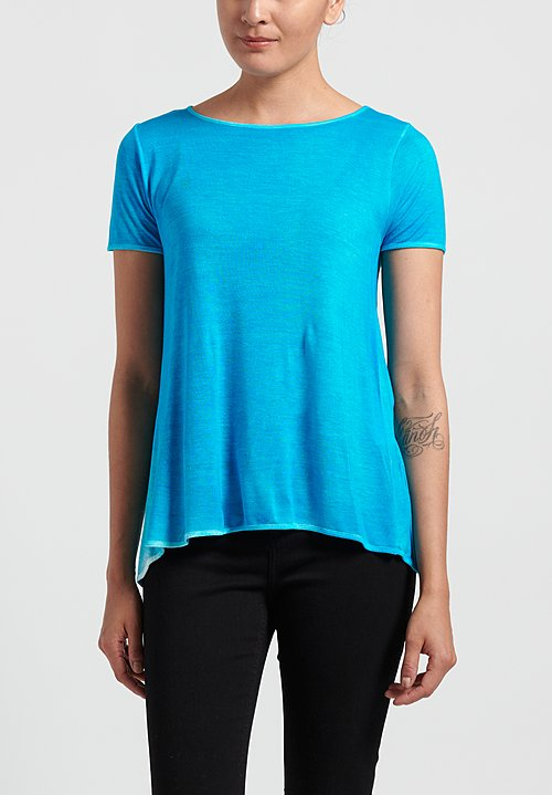 Avant Toi Micromodal Short Sleeve Tee in Turchese