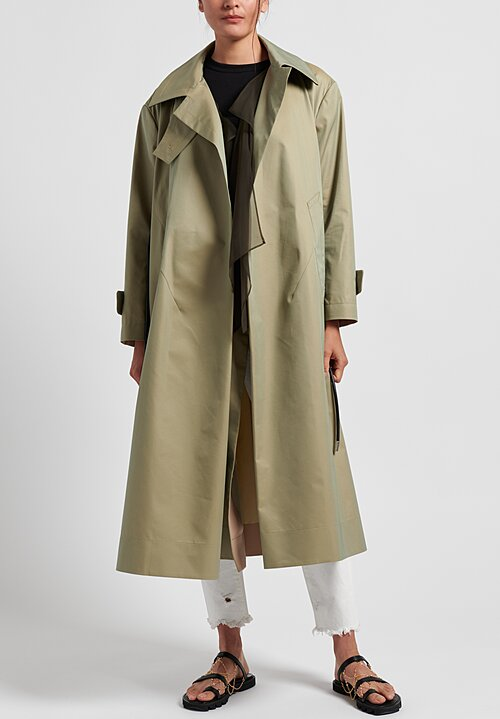 Sacai Cotton Gabardine Trench Coat