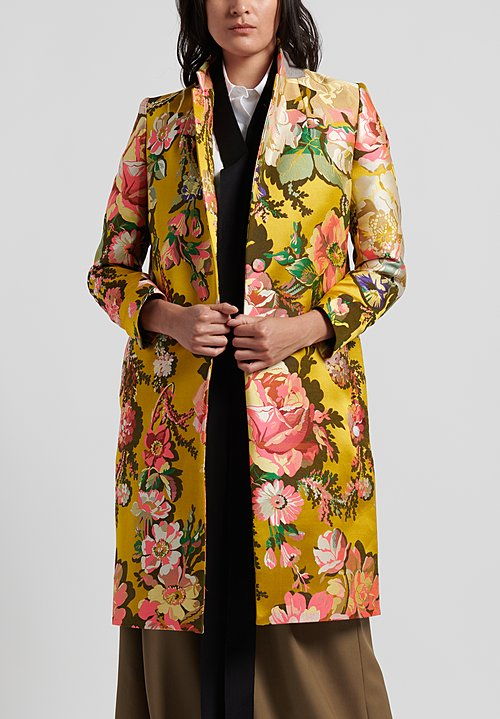Dries Van Noten Richy Bis Coat in Yellow