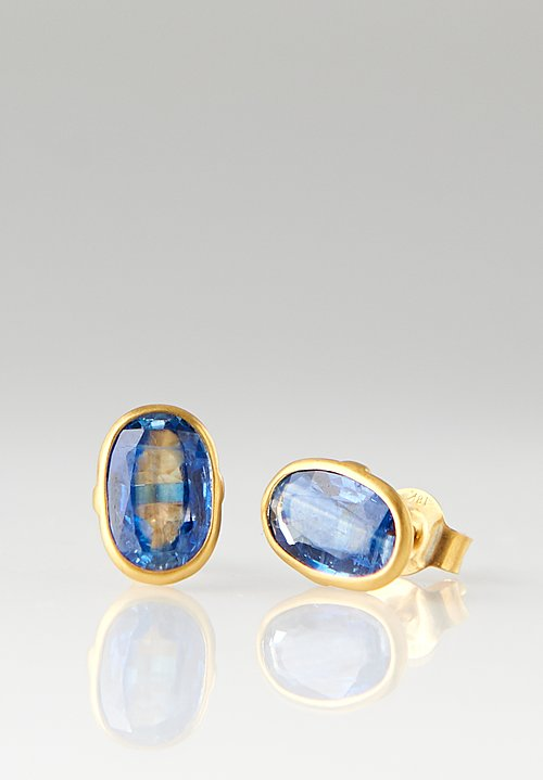 Pippa Small 18K, Classic Kyanite Stud Earrings