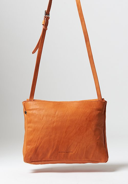Massimo Palomba Robin Tibet Crossbody Bag in Papaya