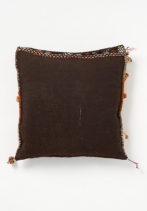 Wool/ Goat Hair Turkish Soumak Saddlebag Pillow
