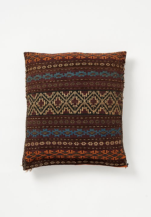 Wool Soumak Geometric Pillow