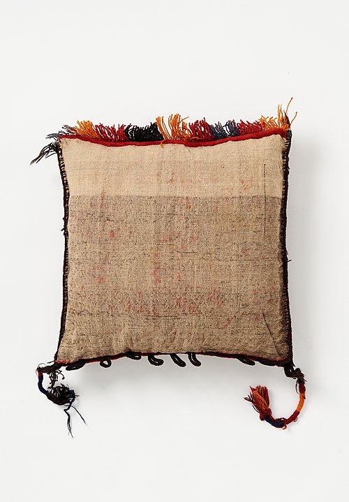 Afghan Hand-Knotted Square Pillow